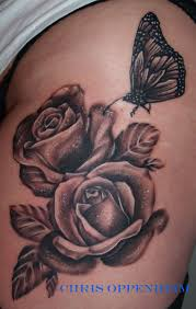realistic black and gray rose wrist tattoo real photo pictures