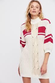 center twist sweater dress free