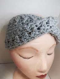 stretchy headbands winter fashion grey headband handmade gifts stretchy headband