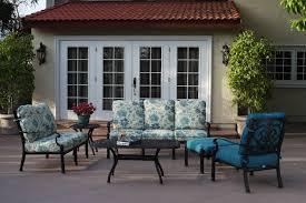 furniture deep seating set cast aluminum 6pc santa barbara