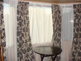 Kitchen Bay Window Curtain Ideas Curtains Beautiful White Curtains Decorating 7 Beautiful Window