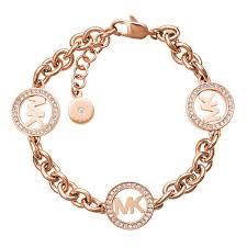 gold tone chain link bracelet images Michael kors chain link bracelet logo ros gold tone in rose jpg