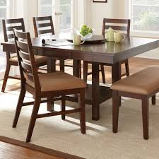 6 Piece Dining Room Sets by Steve Silver Eden Dining Table W 18 Inch Lazy Susan In Dark