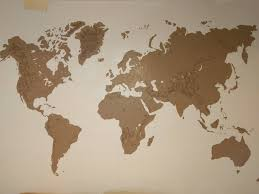 Mountain Ranges World Map by Diy Painting World Map On The Wall