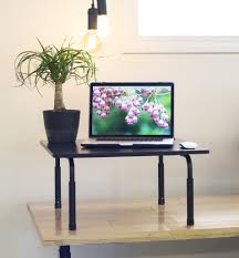 Adjustable Height Computer Desks by Desk T V024 Vivo Vivo Standing Height Adjustable Desktop Stand