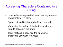 Count Characters In Access Chapter 8 Manipulating Strings Ppt
