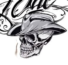 outlaw cowboy skull tattoos design pictures to pin on