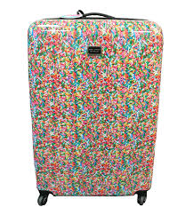 betsey johnson sprinkle print hardside luggage dillards