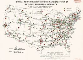 Map Of Usa With Highways by Project 1947 Map Of Interstate Highways Digital Recreation