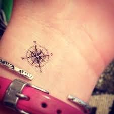 pretty small wrist compass on arm tattoomagz