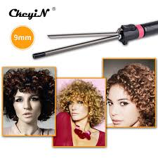 easy curling wand for permed hair 9mm professional hair curling iron wand ceramic pear hair curler