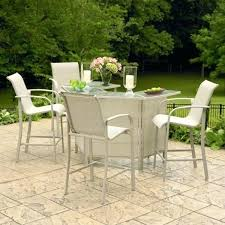 Patio Bar Table And Chairs Ideas Patio Furniture Bar Set And Outdoor Sea Pines Wicker Bar