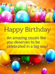big birthday cards celebrate in a big way happy birthday card for cousin birthday