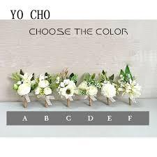 wrist corsage bracelet yo cho white orchid artificial wrist corsage bracelet silk