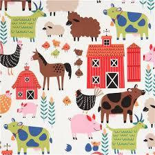 light henry fabric colorful farm animal e i e i o