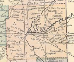 map of allen 92 allen county indiana towns ghost past and present allen