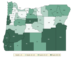 political map of oregon oregon rankings data county health rankings roadmaps