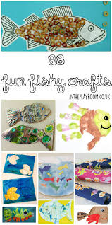 28 fin tastic fish crafts for kids in the playroom