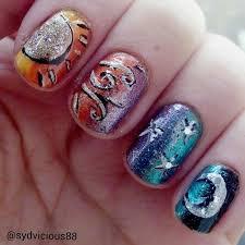sun and moon nails ig sydvicious88 nail art inspiration