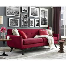 red sofa living room living room