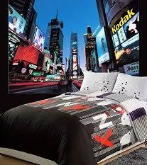 New York City Duvet Cover Modern Contemporary Bedroom Ideas Adults Decorating Ideas