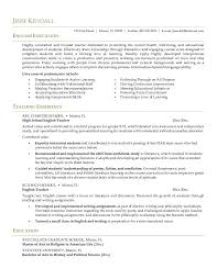 Objective For English Teacher Resume Teaching Objectives For Resume Experienced Teacher Resume