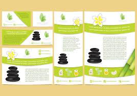 free tri fold brochure vector template download free vector art
