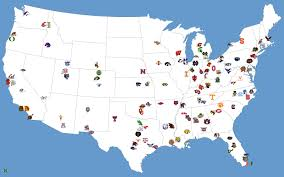 State College Map by All College Football Team Logos Favourite Logos Pensacola Blue