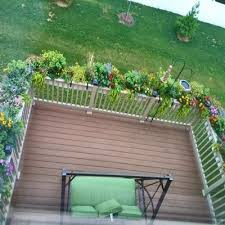 wrought iron deck railing planters unique shaped decoration fence