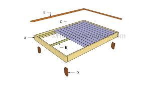 Basic Platform Bed Frame Plans by Full Size Platform Bed Plans Howtospecialist How To Build
