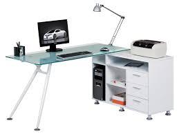 Glass Corner Desk Alphason Augusta Glass Corner Desk Aw13366a Cl