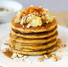 kicked up gluten u0026 dairy free carrot cake pancakes