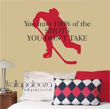 sports wall decal etsy hockey wall decal wayne gretzky quote you miss percent the shots don take