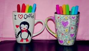 Decorating Porcelain Mugs Diy Cup Decoration With Sharpies Youtube