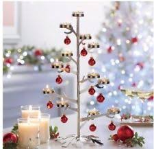 partylite christmas tree tea light holder ebay