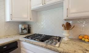 Herringbone Kitchen Backsplash Decor U0026 Tips Granite Countertops With Herringbone Backsplash And