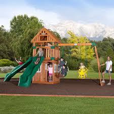 amazon com backyard discovery outing all cedar wood playset swing