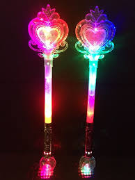 light up princess wand light up princess wand frozen crystal led fairy magic wand heart ebay
