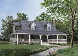 country style house with wrap around porch 2 side house design