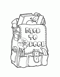 back to backpack coloring page for kids coloring