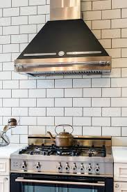 contemporary white tile backsplash kitchen affordable white tile