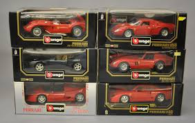 toy ferrari model cars six bburago 1 18 scale diecast model cars all ferrari 3033 3007