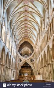 scissor st cathedral nave vaulted ceiling st cross arches