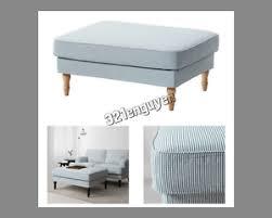 Slipcover Ottoman Ikea Stocksund Footstool Ottoman Slipcover Cover Remvallen Blue