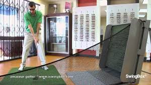 golf net golf nets driver use with swingbox indoors youtube
