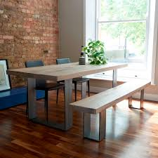 wood table with metal legs modena modern wood metal dining table