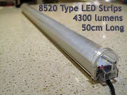 rigid led strip lights 12v double 8520 type rigid led light strips 50cm long u2013 uneek leds
