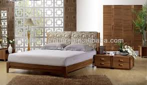 Traditional Style Bedroom - chinese traditional style simple wood double bed hotel furniture