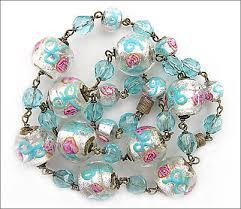 blue glass necklace vintage images Antique vintage jewelry venetian czech bohemian art deco jpg