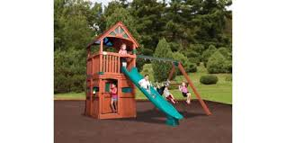 Backyard Playground Slides Score Great Deals On Wooden Playsets At Englewood U0027s Top Playground
